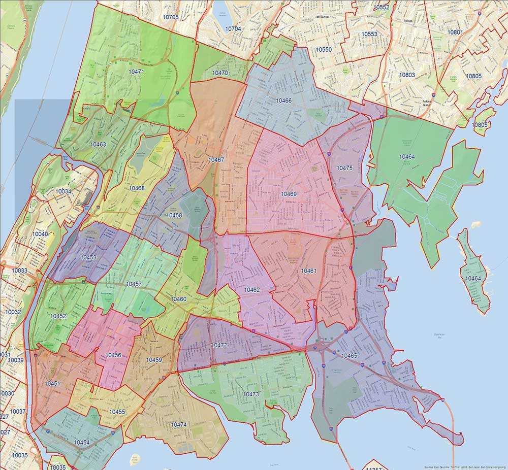 Bronx Zip Codes