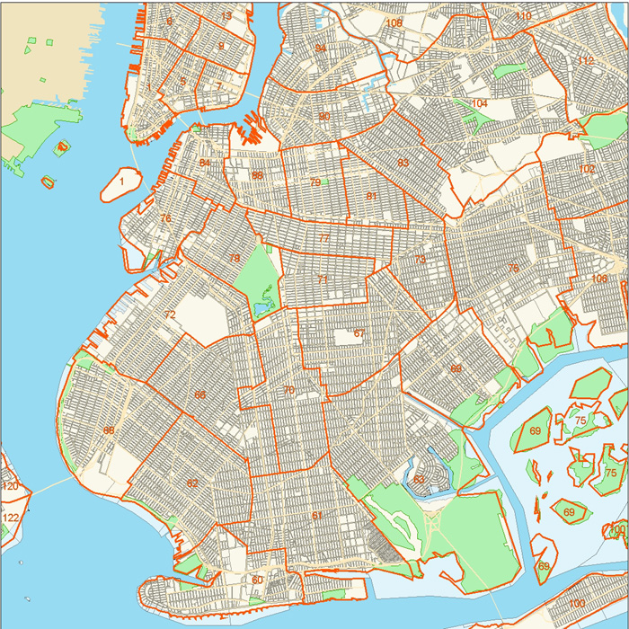 map of manhattan neighborhoods with Brooklyn Police Precincts on Brooklyn Ice Cream Factory further Chelsea Market moreover Mapa De Nueva York likewise Circle Line Sightseeing Cruises in addition New Museum.