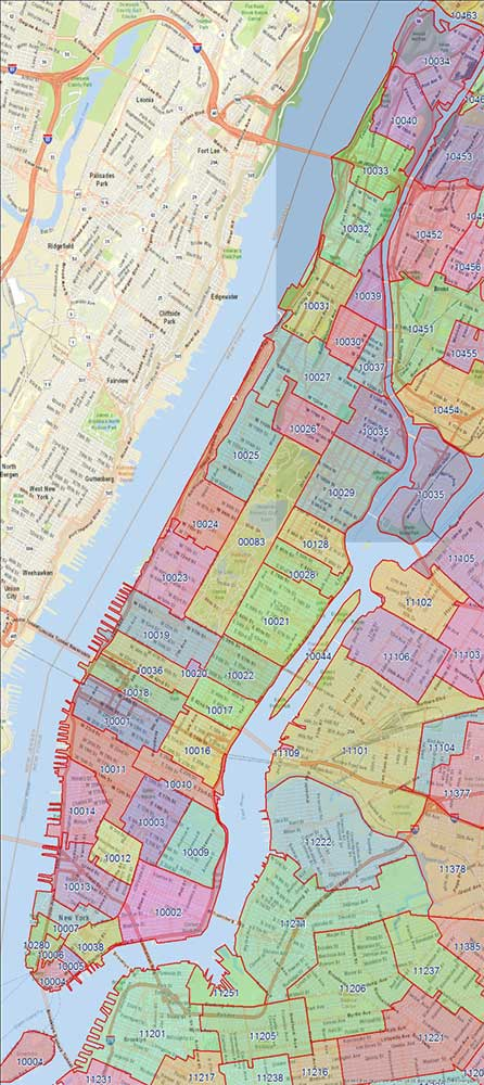 Manhattan Zip Codes